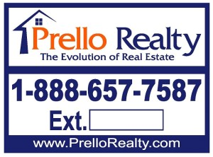 Prello Realty Yard Sign
